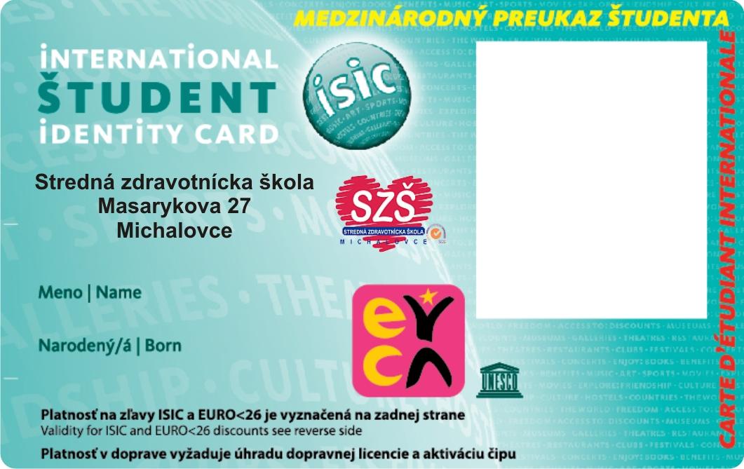 Preukaz ISIC/EURO