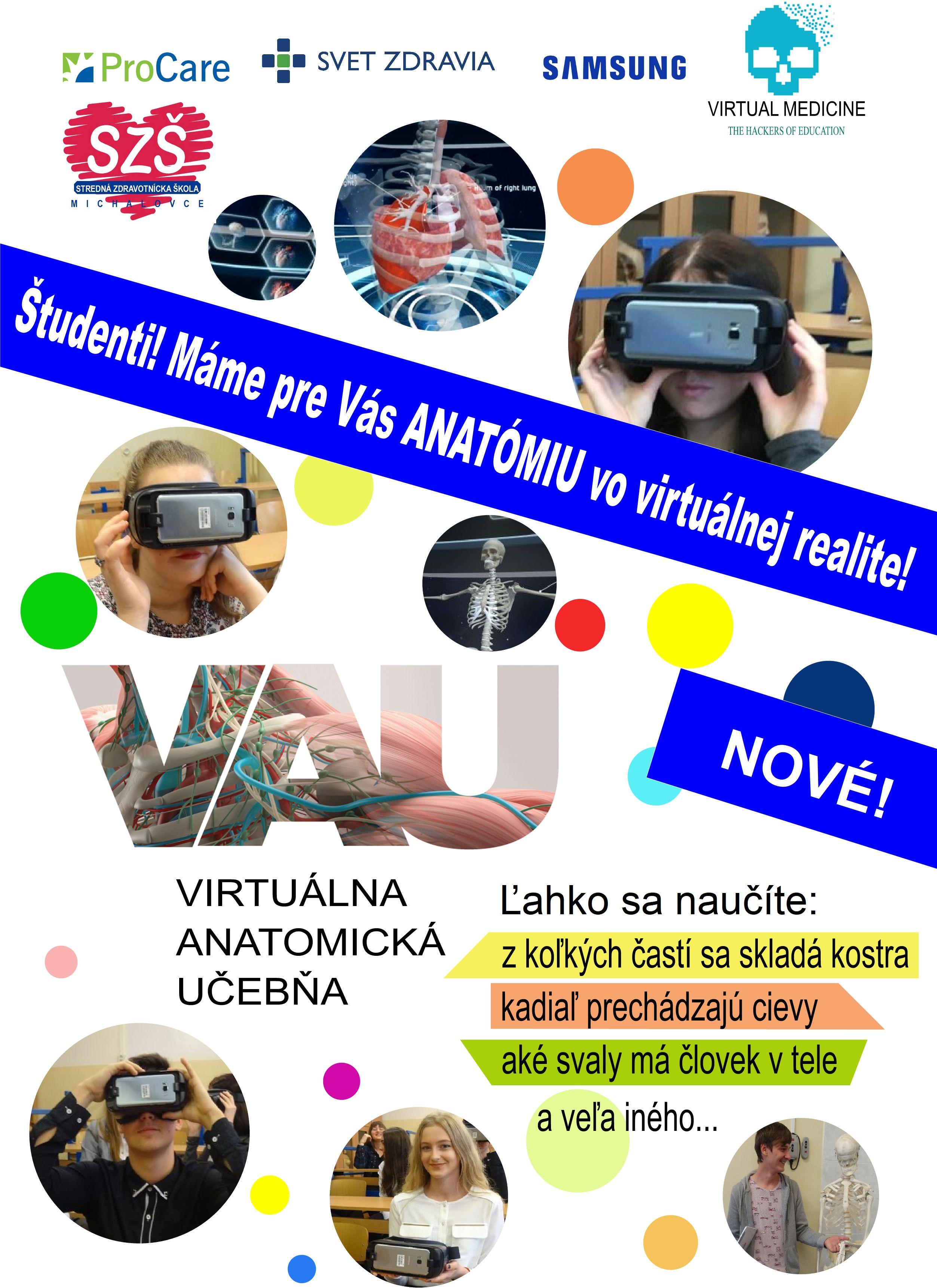 Virtuálna anatomická učebňa - pridaj sa do skupiny na FB